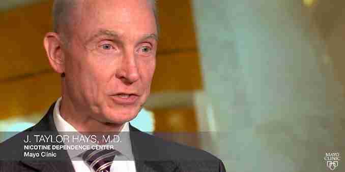 J. Taylor Hays, M.D. fra Mayo Klinikken besvarer spørgsmål om dampere